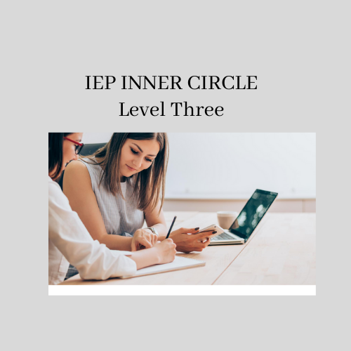 3 IEP Inner Circle (One on One Coaching) Level 3